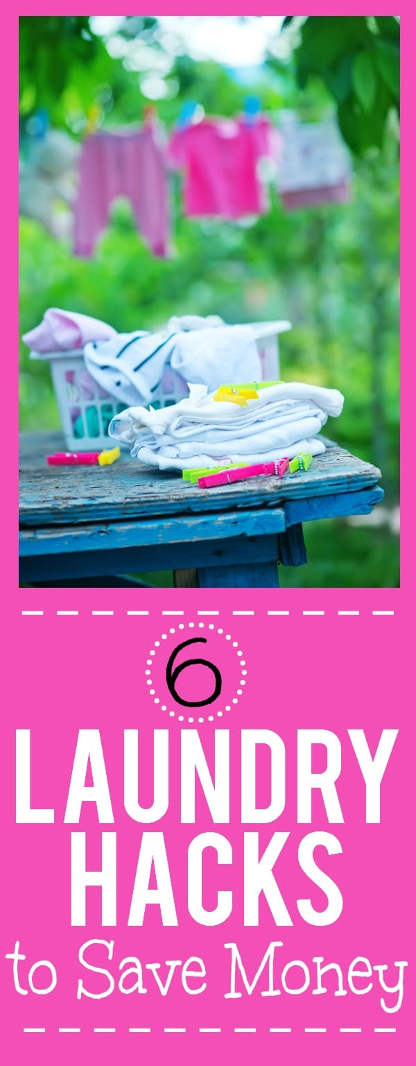 6 Easy Laundry Hacks to Save You Money -There's no way of getting of doing the laundry, but you can do it on the cheap! Check out these 6 genius laundry hacks to save money! | frugal living tips