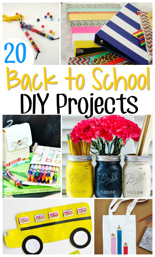 20 Fun and Adorable Back to School Crafts - Have some fun with back-to-school this year with some fun new DIY arts and crafts projects like these 20 adorable and easy Back to School Crafts.