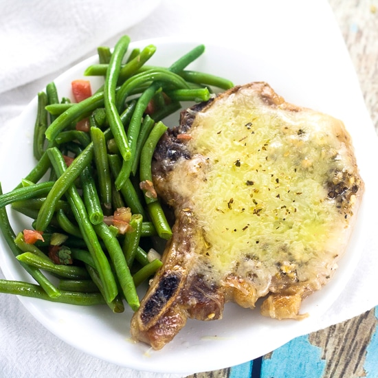 Cheesy Italian Pork Chops