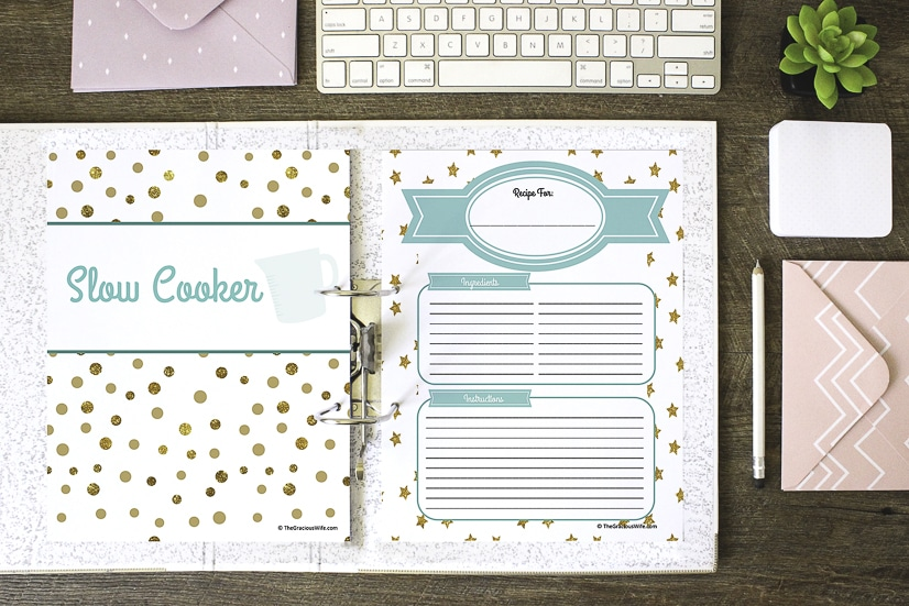 Diy Recipe Book Cover ~ How to make a recipe binder free printables