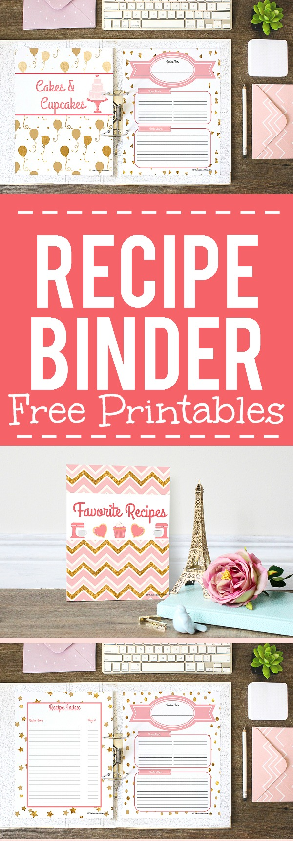 How to Make a Recipe Binder | FREE Recipe Binder Printables