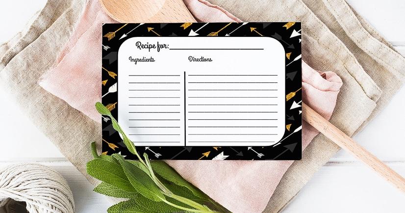Free Recipe Cards Printables fb