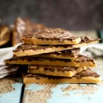 Homemade Toffee Recipe -Who knew making homemade chocolate toffee could be so easy?! With just 4 ingredients, you can make your own sweet, crunchy and delicious toffee to enjoy! This is seriously so good it's like crack!