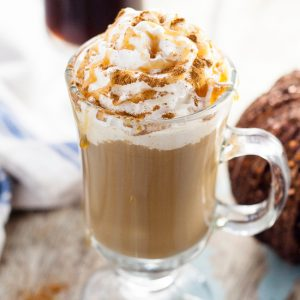 Homemade Pumpkin Caramel Coffee Creamer Recipe -Caramel adds an extra hint of sweet to the classic pumpkin spice Fall flavor. Add this Homemade Pumpkin Caramel Coffee Creamer to your coffee for a perfect treat on a brisk Fall day. Because nothing is better than pumpkin coffee!