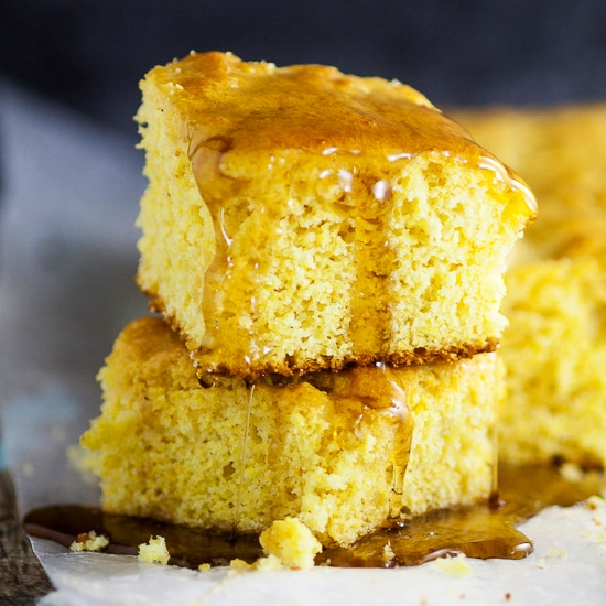 Maple Cornbread Recipe -A sweet, maple twist on a classic favorite, this homemade Maple Cornbread recipe is made from scratch and takes traditional cornbread to a whole new delicious level. A delicious Fall twist on a traditional favorite. Yummmm!