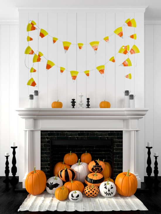 Easy Paper Plate Candy Corn Banner Tutorial The Gracious