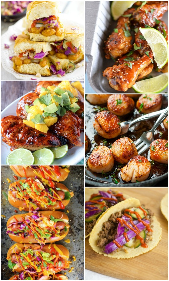 Recipes Using Sriracha Sauce -Use your favorite hot sauce more often with these 48 sometimes spicy, sometimes sweet, and always delicious recipes using Sriracha sauce that you have to try!