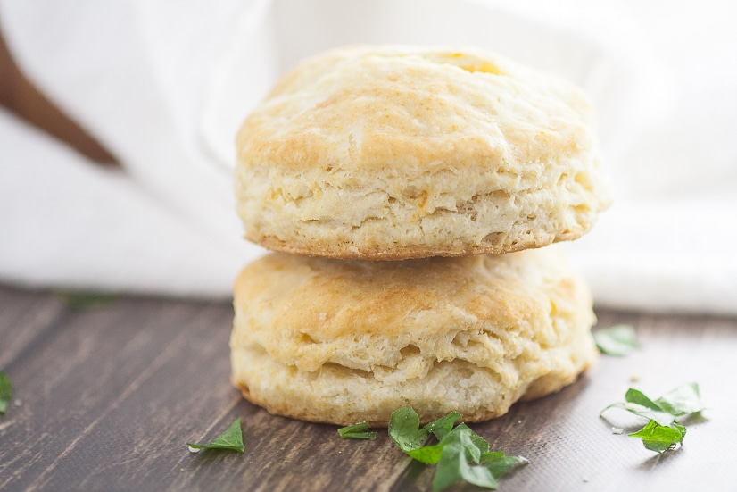 Old Fashioned Buttermilk Biscuits Recipe -Fluffy, flaky Old Fashioned Buttermilk Biscuits recipe is easy to make and is a golden, delicious crowd pleaser! They're so simple and will never disappoint! These flaky, buttery biscuits are perfect for a Thanksgiving side dish or for biscuits and gravy.
