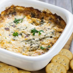 Cheesy Bacon Spinach Dip