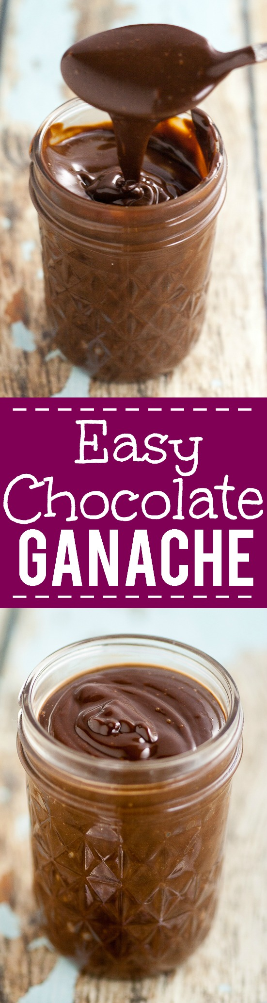 Easy Chocolate Ganache Recipe -Make this scrumptious and rich Easy Chocolate Ganache recipe with just 3 ingredients in 15 minutes! Perfect for cupcakes, cake filling, truffles, and more! A must have recipe for all chocolate lovers!
