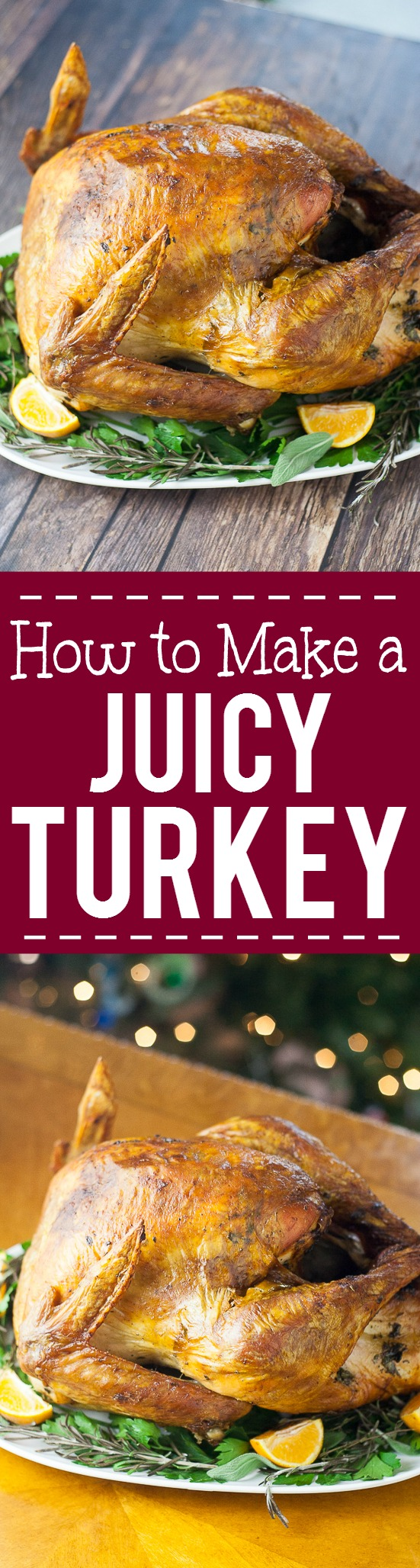 7 easy tips for How to Make a Juicy Turkey -For a juicy, golden, beautiful and delicious turkey this Thanksgiving, check out these 7 tips for how to make a juicy turkey.