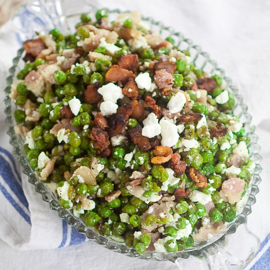 Feta Bacon Peas