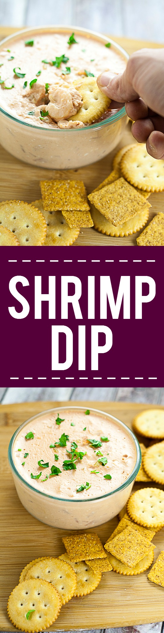 Shrimp Mold Dip Recipe -A vintage but tasty recipe, this Shrimp Mold Dip recipe will be the highlight of the party with a creamy tomato base, salad shrimp, and onion and celery. Classic, simple, and delicious appetizer recipe and easy dip!
