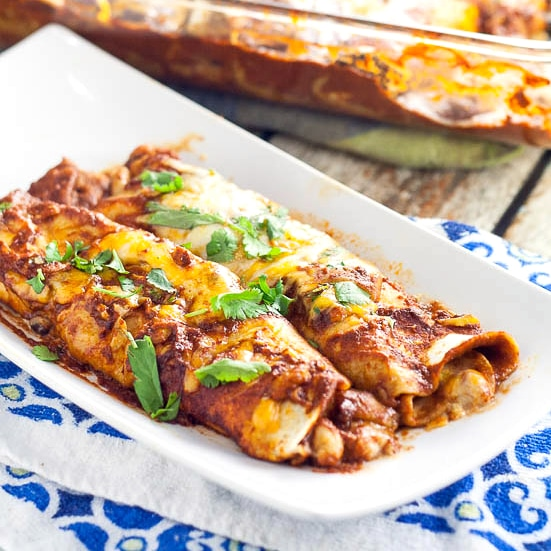 3 Bean Enchiladas