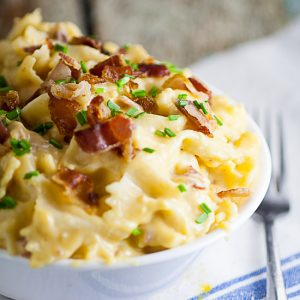 Bacon Cheddar Bow Ties