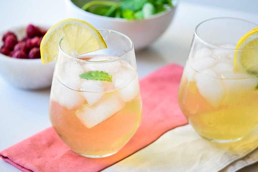 Earl Grey Spritzer Recipe -This pretty, festive, and fun sparkling Earl Grey Spritzer is the perfect drink for a party or bridal shower, or even a delightful just-because pick-me-up. This easy drink recipe is perfect for our tea party bridal shower!