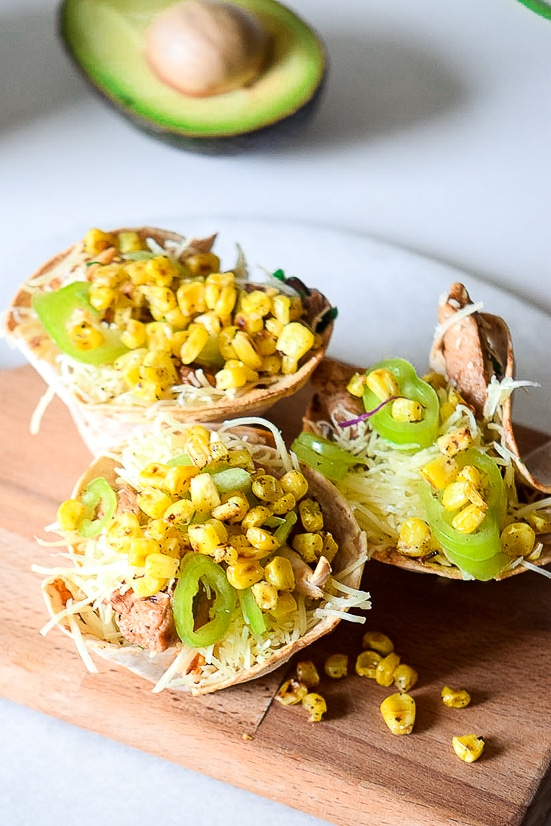 Jalapeno Taco Cups Recipe -Quick and easy Jalapeno Taco Cups make a perfect finger food party snack or bite size dinner. Top them with all of your favorite toppings for a recipe the whole family will love!