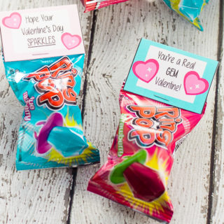 Free Printable Ring Pop Valentines for Kids - Free Printable Ring Pop Valentines that are easy to put together and perfect for kids to hand out at their school Valentine's Day party.