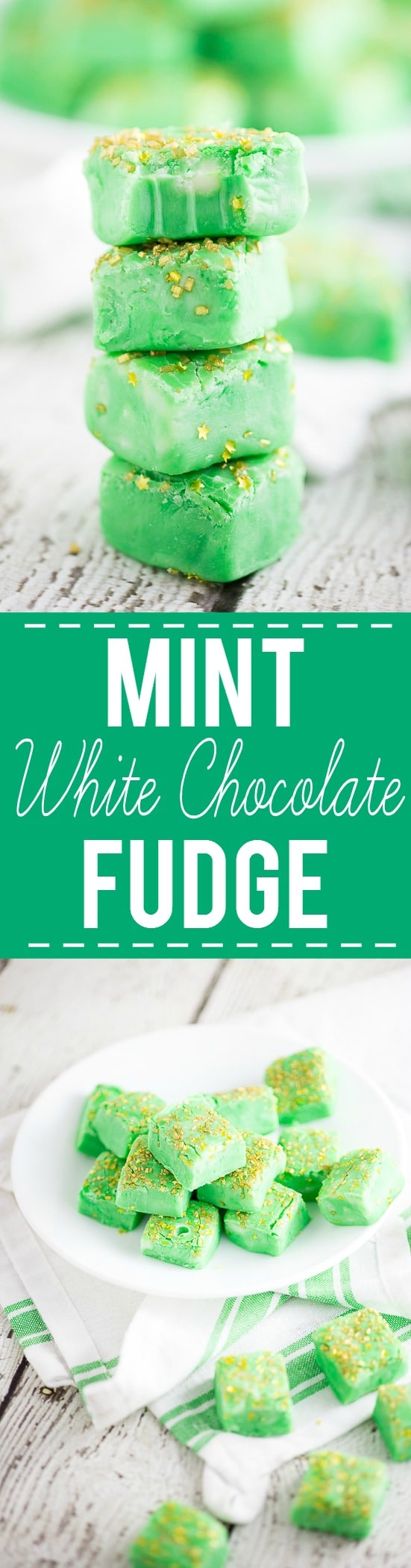 Cool mint mixed with creamy white chocolate fudge make this Mint White ...