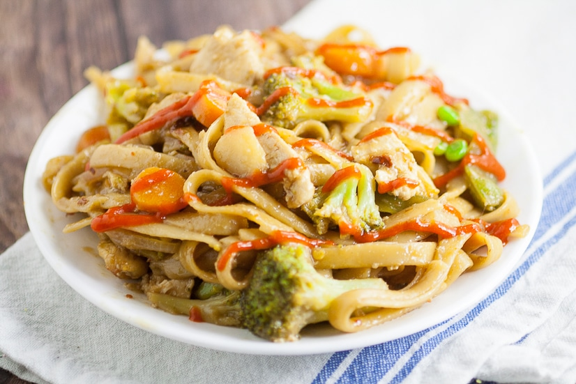 Chicken and Vegetable Stir Fry Recipe - Full of veggies and tangy teriyaki, this Chicken and Vegetable Stir Fry recipe makes a delicious, quick and easy family dinner recipe with chicken breast in just 30 minutes that's healthy too!