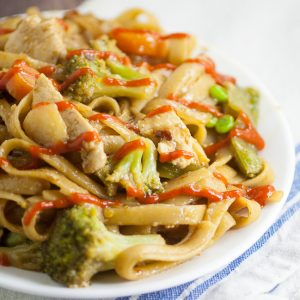 Chicken and Vegetable Stir Fry Recipe -Full of veggies and tangy teriyaki, this Chicken and Vegetable Stir Fry recipe makes a delicious, quick and easy family dinner recipe with chicken breast in just 30 minutes that's healthy too!