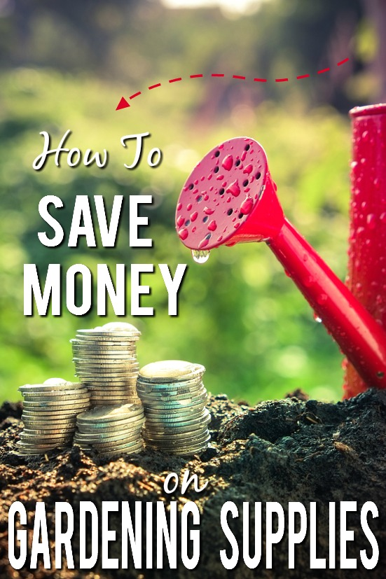 6 Tips to Save Money Gardening Supplies -Start your garden off the right way. On a budget! Grow a happy, healthy garden without breaking the bank with these 6 Tips to Save Money on Gardening Supplies!