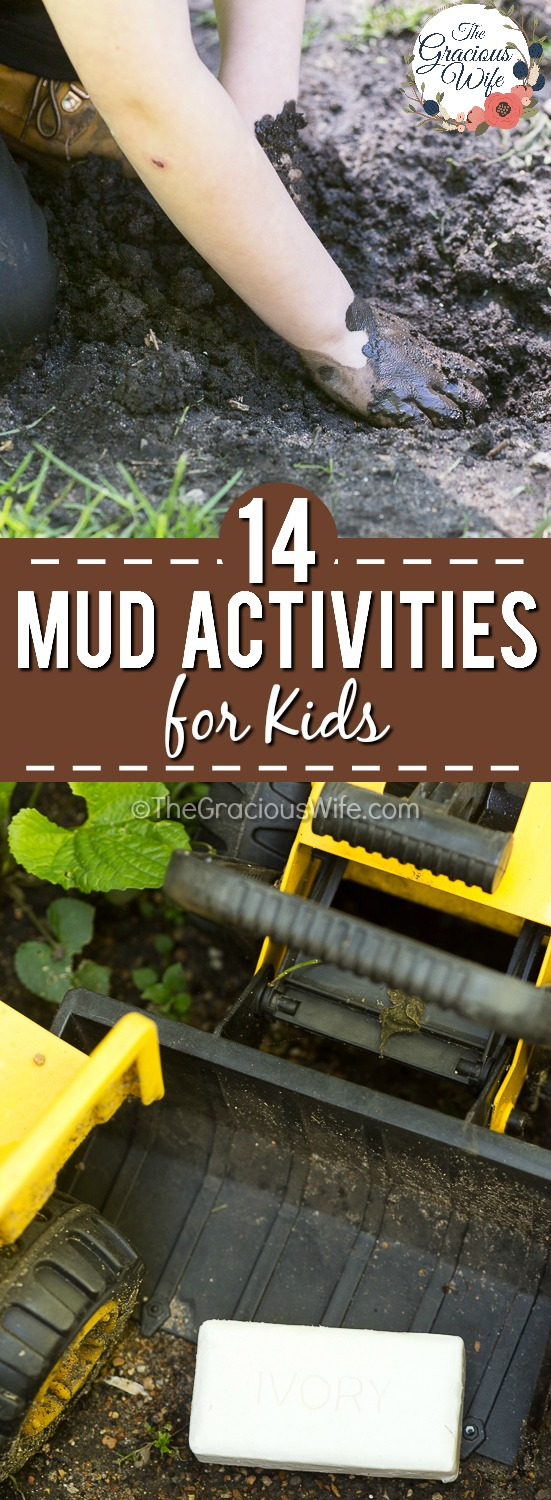 14 Dirt and Mud Activities - There are so many health benefits to kids going outside and playing in the mud, and there's no need to worry when you can clean up gently after with Ivory Soap.  Encourage your kids to have fun and get muddy with these 14 mud activities for kids, then wash up with the best soap!