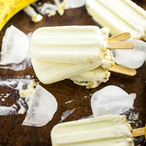 Banana Cream Pie Popsicles