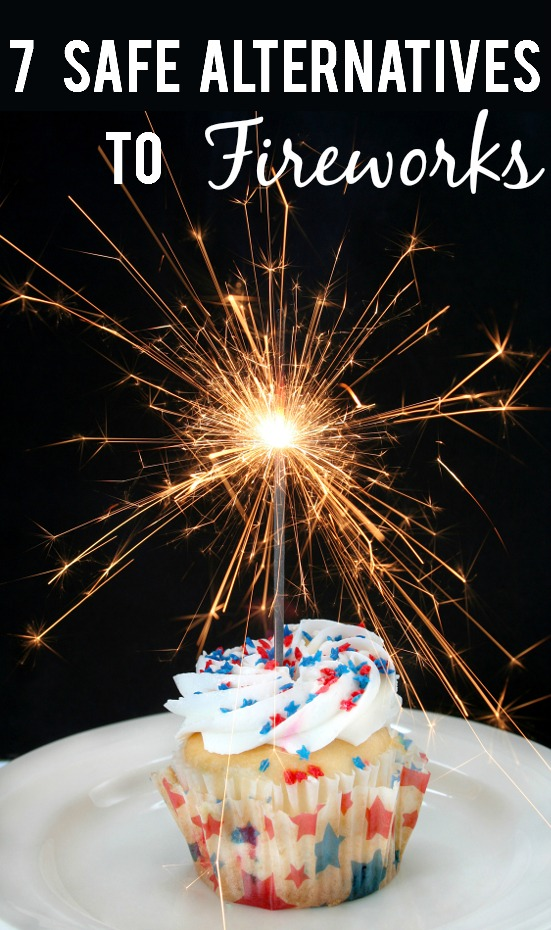 7 Safe Alternatives to Fireworks -Love fireworks but worried about safety? Have some safe celebratory fun this Summer with these 7 safe alternatives to fireworks. Parenting Tips | Summer