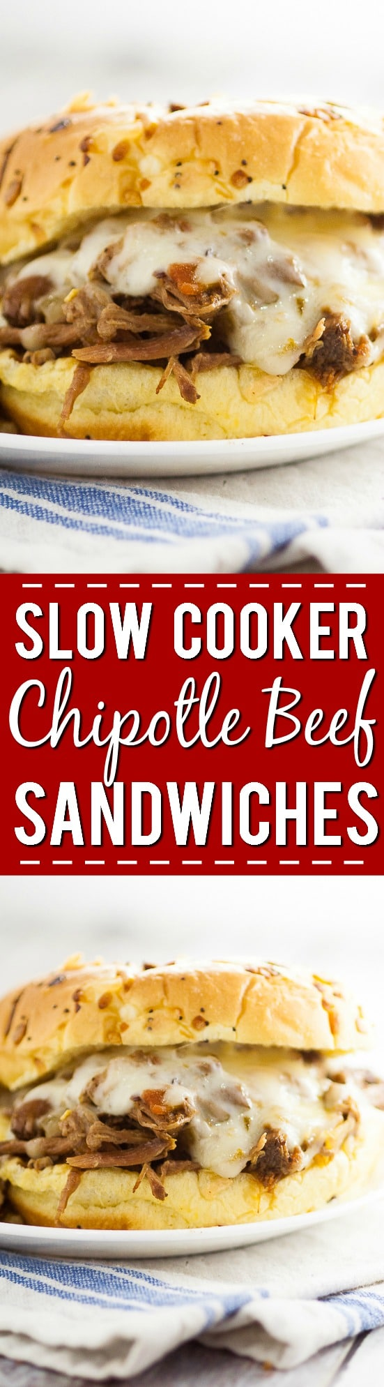 Slow Cooker Chipotle Beef Sandwiches Recipe -This Slow Cooker Chipotle Beef Sandwiches recipe is a zesty new take on classic pulled beef that's super easy to make right in the Crock Pot. Just serve on a bun with cheese! Easy slow cooker recipe that the family will love