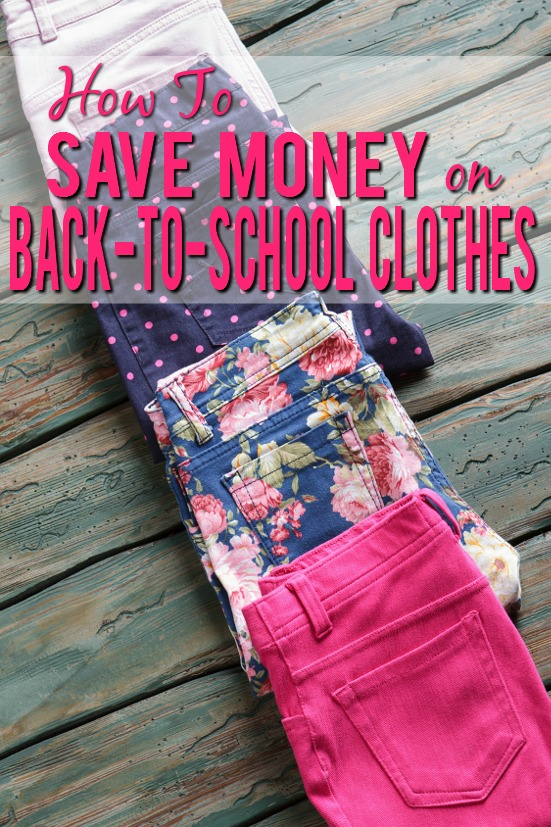 How to Save Money on Back to School Clothes - Back to school time can be expensive! Save a little money, stay under budget, and send your kids back to school in style with these 6 tips to save money on back to school clothes. Parenting tips