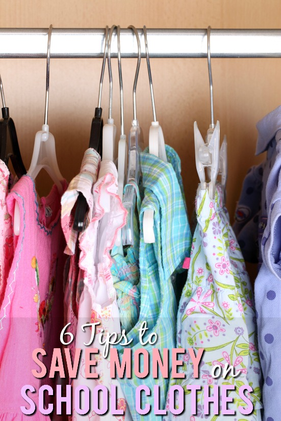 How to Save Money on Back to School Clothes -Back to school time can be expensive! Save a little money, stay under budget, and send your kids back to school in style with these 6 tips to save money on back to school clothes. Parenting tips