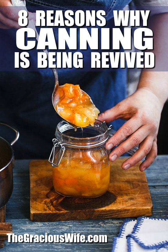 8 Reasons Why Canning is Being Revived - Have you noticed the lost art of canning making a comeback recently? Here are 8 reasons why canning is being revived! See if you want to join in, too! These are great reasons to actually start canning too