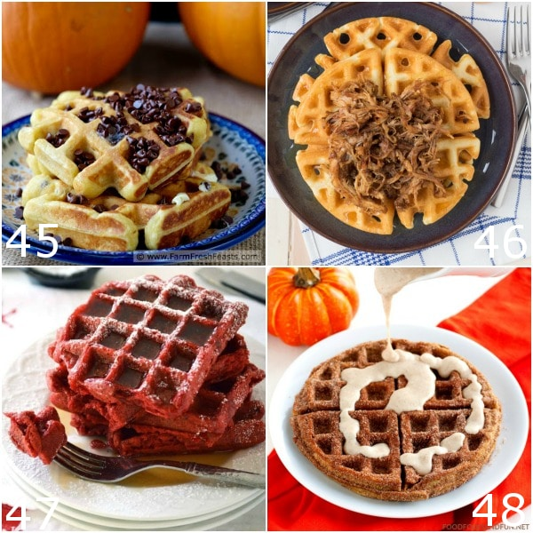 64 Waffle Recipes - Learn how to make your favorite breakfast 64 different ways from scratch with these 64 Waffle Recipes, including easy recipes for everything from healthy or gluten free to buttermilk, cinnamon roll, and more! A waffles recipe for everyone to love!