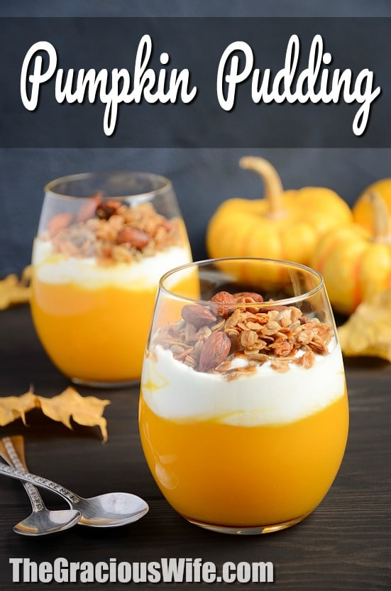Pumpkin Pudding Recipe -Creamy, smooth, and rich Pumpkin Pudding recipe is easy to make in just 15 minutes and highly addictive. Top with granola, whipped cream, pecans, or caramel. Or all of the above! This is seriously THE BEST pudding recipe. EVER. AND it's easy. AND it's pumpkin. Enough said.