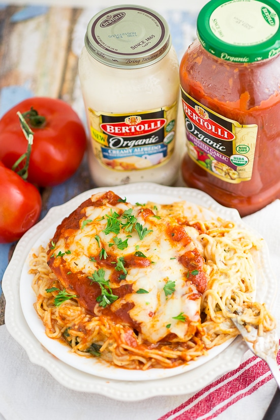 One Dish Baked Cheesy Chicken And Pasta Easy Recipe The Gracious Wife