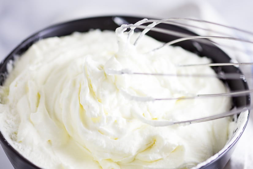 Homemade Whipped Cream is a breeze to make. All you need is 2 ingredients, a bowl, a whisk & 15 minutes. There's absolutely nothing to it! Easy Homemade Whipped cream is so creamy and rich and delicious! When it's this easy, why get the can?
