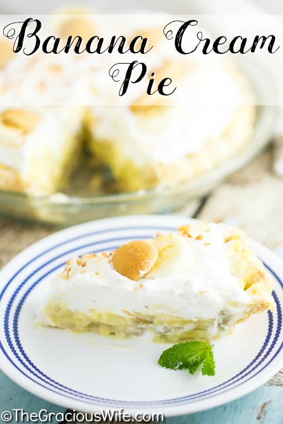 Old Fashioned Homemade Coconut Cream Pie With Whipped Cream