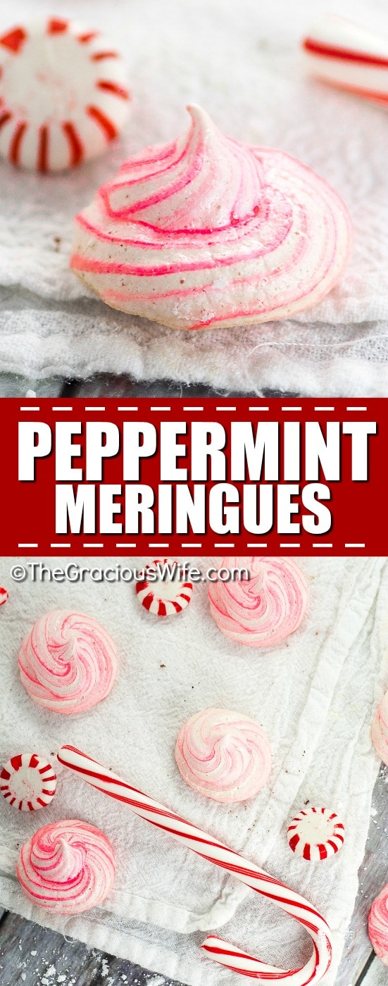 Peppermint Meringues Recipes -Easy and light Peppermint Meringues make a delicious and festive addition to your holiday table or your Christmas cookie exchange.