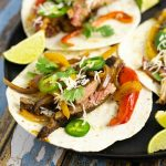 Juicy and delicious skirt steak fajitas, made totally from scratch with homemade seasoning using tender skirt steak make a simple, quick and easy dinner for the whole family.