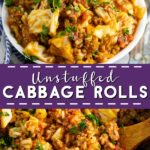 Easy one pot Unstuffed Cabbage Rolls are a delicious, simple way to enjoy a classic. A full healthy meal in a bowl that the whole family will love.