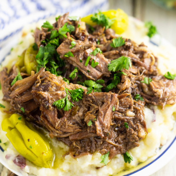 Mississippi Pot Roast is the best, juicy, tender, zesty roast you'll ever eat. It's so easy to make right in the slow cooker!